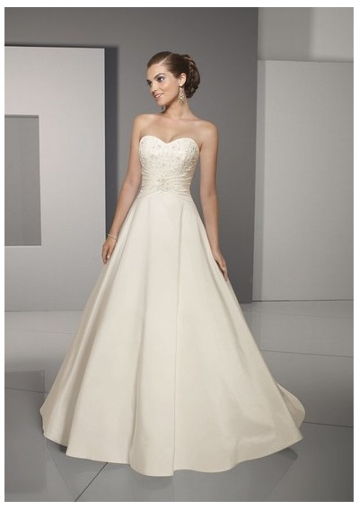 Luxury A-line Strapless wedding dresses